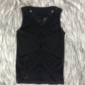 Fabletics Womans Large Black Seamless Tank Top